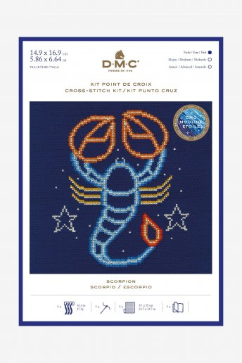 Star sign cross stitch kit - Scorpio