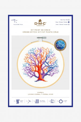 Colourful Coral Cross Stitch Kit