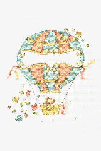 Kit point de croix La montgolfière de bébé