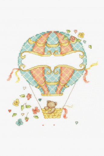 Kreuzstichset Heißluftballon