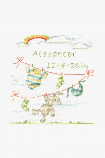 New Baby Cross Stitch Kit - Bunny Rabbit