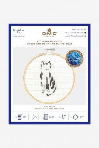 Thoughtful Cat Cross Stitch Kit