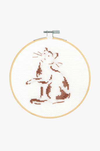 Playful Cat Cross Stitch Kit