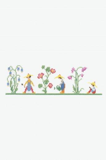 Kit punto de cruz punto de libro jardín de jacintos