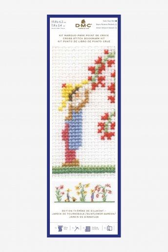 Kit punto de cruz punto de libro Jardín de girasoles