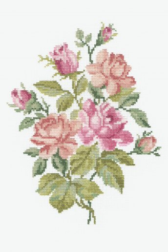 Kit ponto de cruz Bouquet de rosas