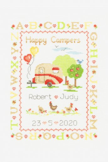 Happy Campers Cross-stitch Kit