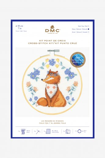 Adorable Fox Cross-stitch Kit