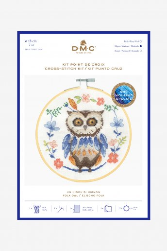 Adorable Owl Cross-stitch Kit