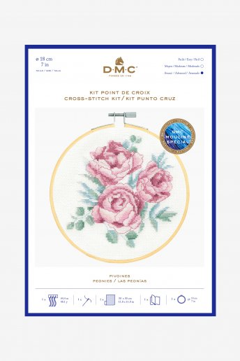 Peonies Cross-stitch Kit