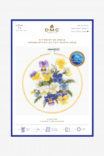 Violets Cross-stitch Kit