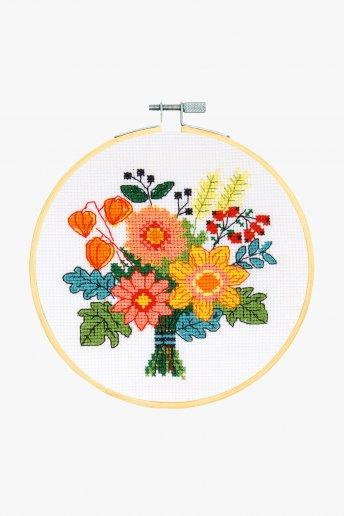 Kit Ponto de cruz Bouquet de outono