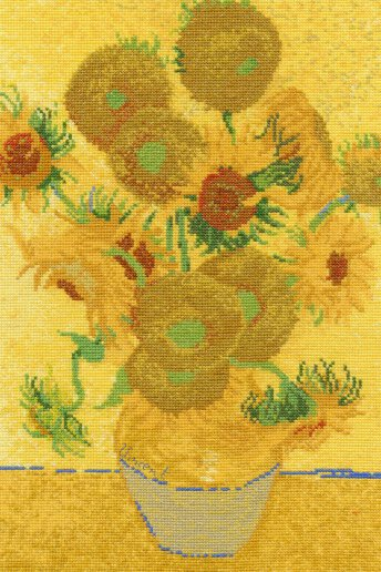 Van gogh sunflower cross stitch kit