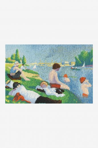 The National Gallery × DMC Cross Stitch Kits スーラ「アニエールの水浴」