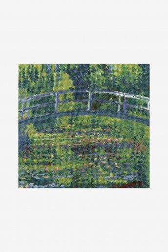 Cross stitch kit - monet - the water lily pond