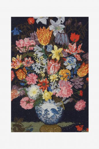 Cross stitch kit - bosschaert - still life of flowers
