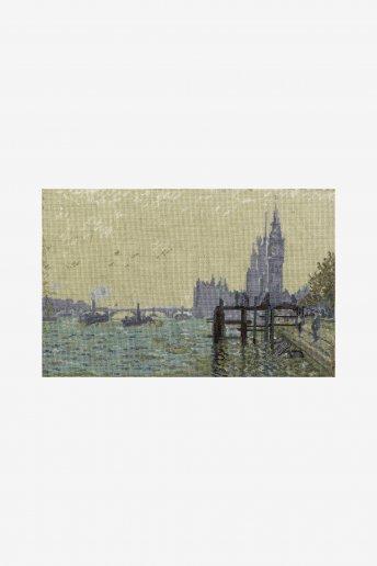 The National Gallery×DMC Cross Stitch Kits クロード・モネ「ウェストミンスター橋」