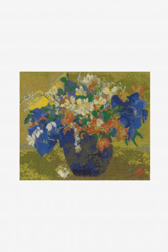 Cross stitch kit - gauguin - a vase of flowers
