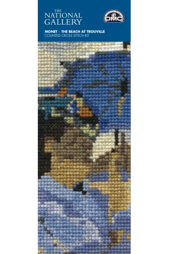The National Gallery×DMC Mini Cross Stitch Kits クロード・モネ「トルーヴィルの浜」