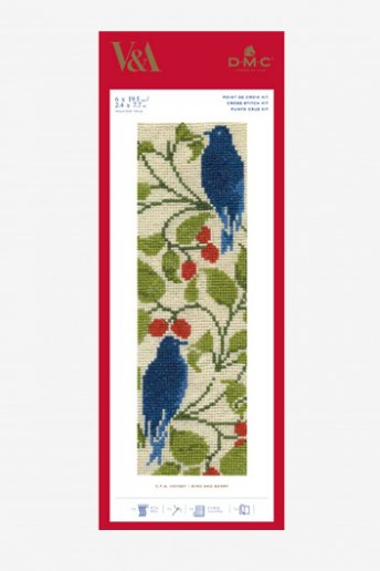 Bird and Berry Cross-stitch Bookmark Kit