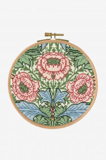 Kit Ponto de cruz Flores e folhas