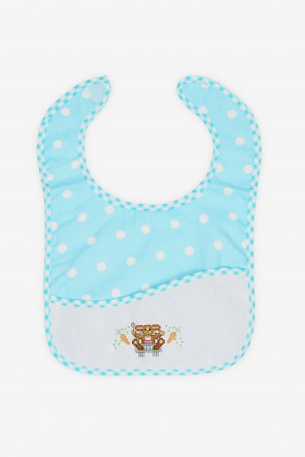 Blue Polka Dot Toddler Bib