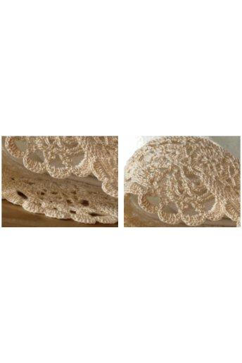 Modello crochet bordo per spugna