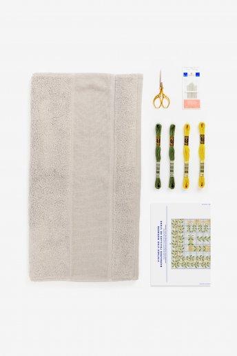 Handtuch Stickset - Weinranken