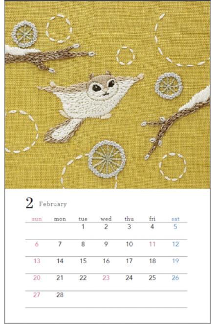 Chicchi刺繍カレンダー 2022年