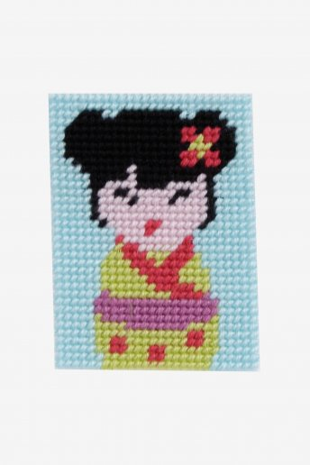 Kids Tapestry Kit-- Kokeshi Doll