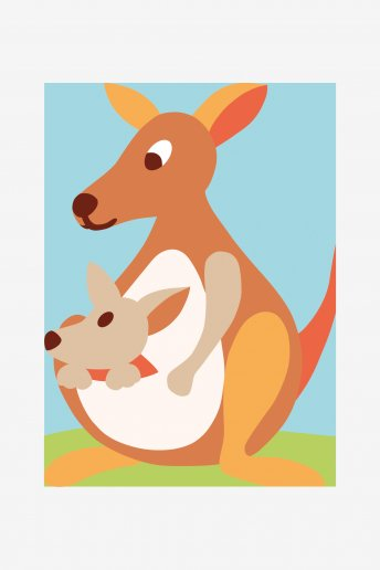 Kids Tapestry Kit - Kangaroo