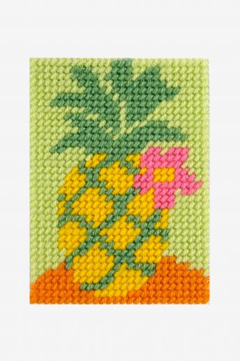 tapestry kit of a colourful pineapple