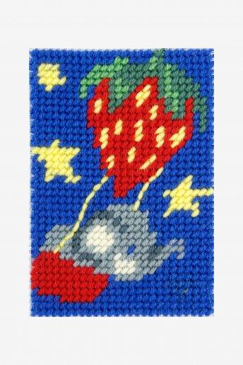 Kit tapeçaria Balão de morango