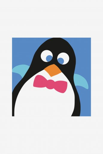 Penguin big hole tapestry kit