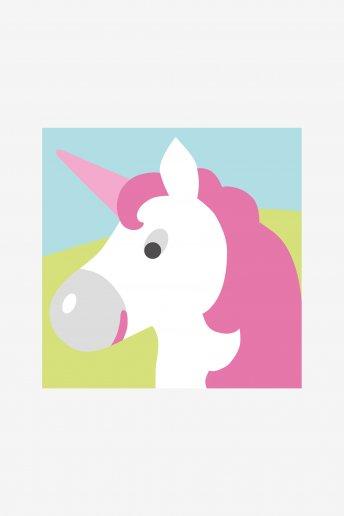 Kit cañamazo agujeros grandes El unicornio