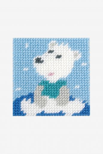 tapestry kit of an adorable polar bear