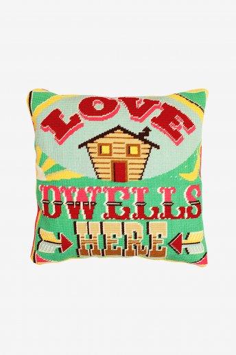 Kit tapeçaria O amor está dentro de casa