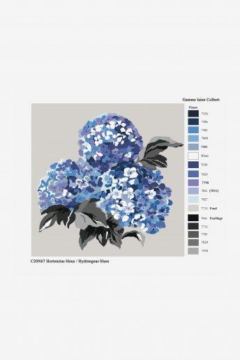 Tapestry canvas - blue hydrangeas