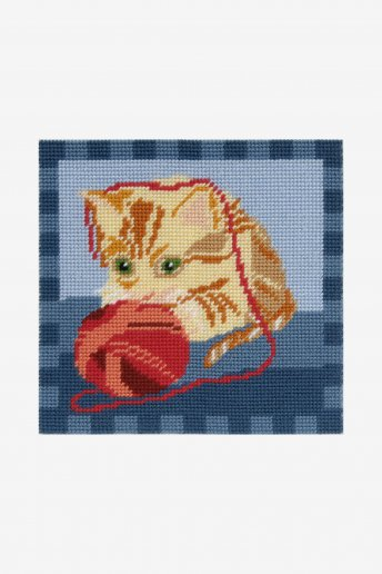 Kitten W/Ball Tapestry Kit