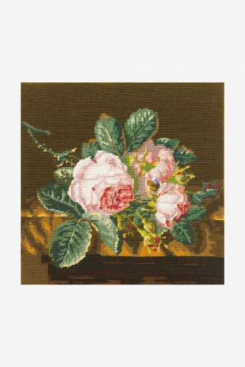 Tapestry canvas - roses on silk
