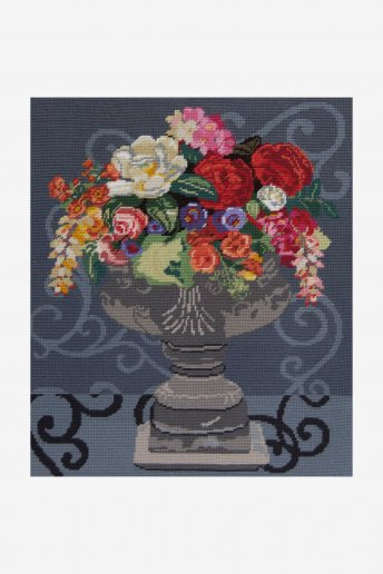 Abundent bouquet tapestry canvas