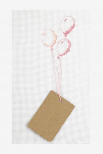 Happiness Balloons Cross Stitch Kit