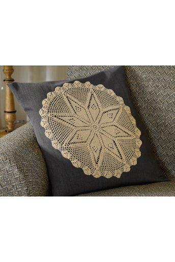 Modello crochet motivo rotondo per cuscino
