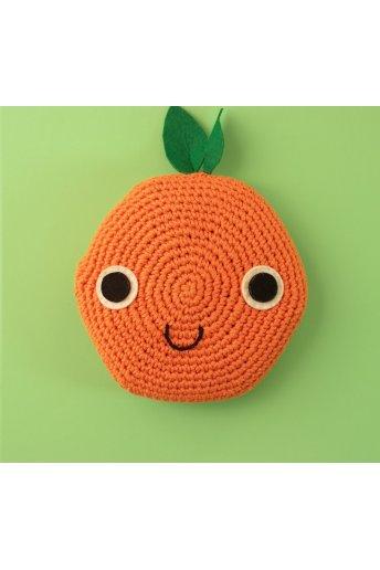 Patrón cojín ganchillo naranja
