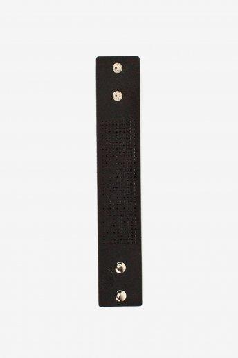 DMC Faux Leather Cuff in Black