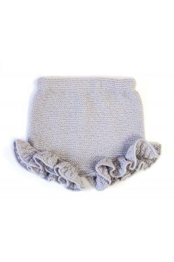 Modèle laine baby culotte à frou-frou
