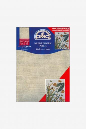 Tecido aida de linho pré-cortado 5,5 pts/cm art. dc28l
