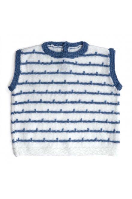 Modèle laine baby débardeur