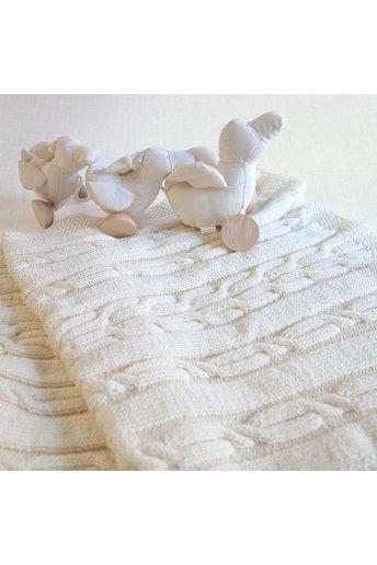 Modelo tricot baby dream mantita para cochecito