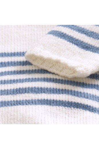 Modello tricot Moby Dick maglioncino a righe blu